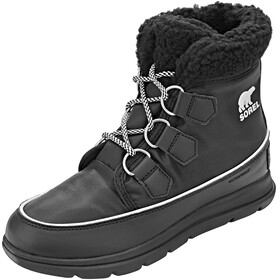 Sorel W's Explorer Carnival Boots Black/Sea Salt